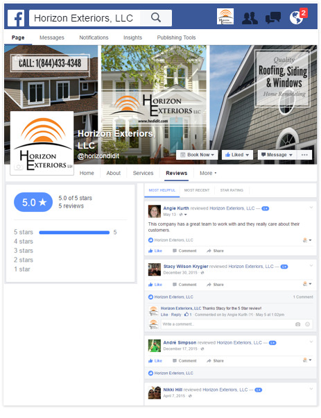 horizon facebook review page mini