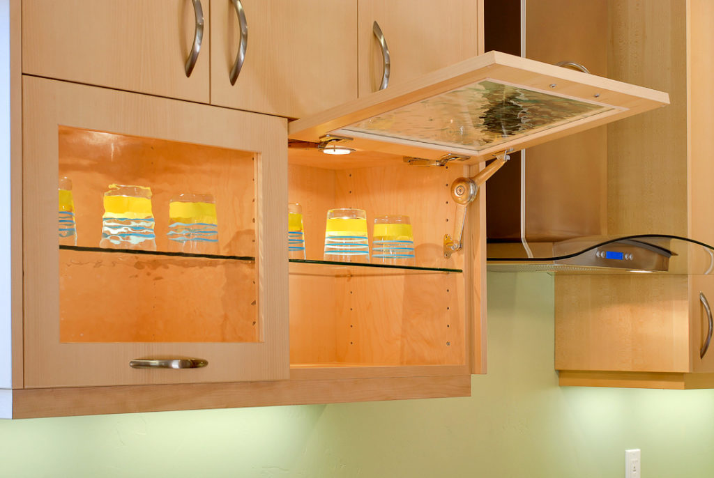 kitchen flip up cabinet doors Klamco interior home remodeling wi