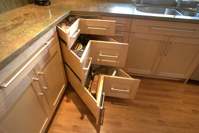 Corner Drawers Offer A Creative Alternative To The Corner Cabinet. They  Typically Pull Out From The Corner, Providing Easy Access To Contents  Inside.
