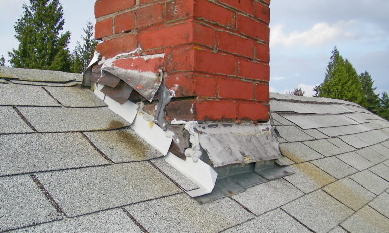 Roof problems Chimney flashing falling apart