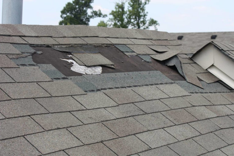 roof problems missing-shingles