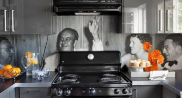 photograph backsplash in the kitchen by Klamco | Klam Construction