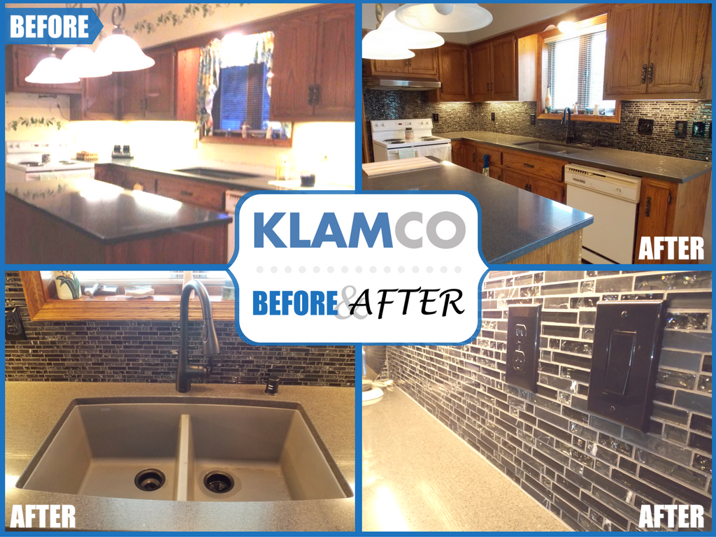 kitchen remodeling before and after pictures from Klamco Klam Construction