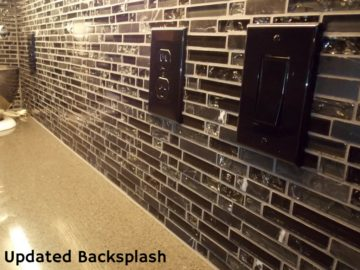 updated backsplash by Klamco | Home Remodeling by Klam Construction