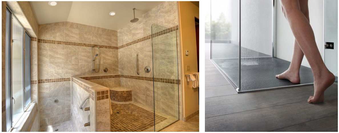 Curbless Shower Hot Trend In Bathroom Remodeling